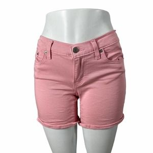 Levi's Mid Length Cuffed Pink Shorts Size 28
